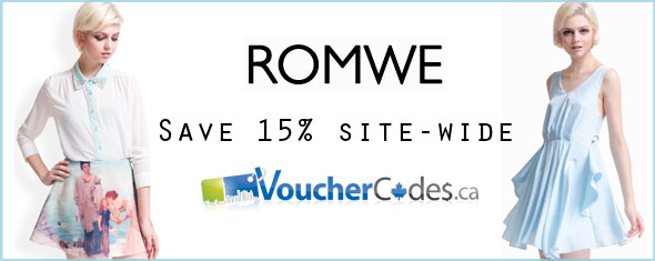 Romwe 15% VC Exclusive