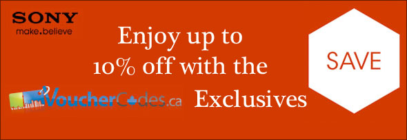 Sony VoucherCodes.ca Exclusive