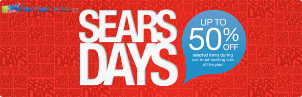 Sears Days Up to 50% Off