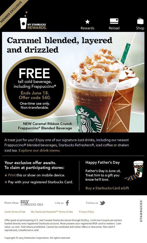 Starbucks drink coupons