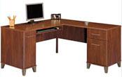 L-Shaped Wood Desk