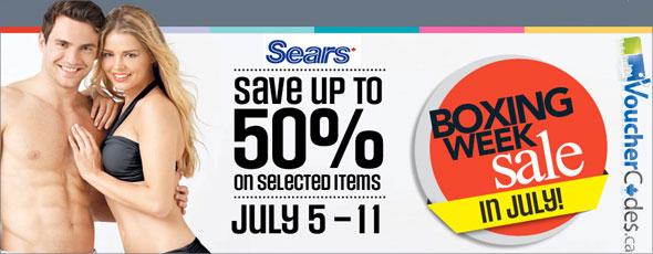 Sears Boxing Week Sale
