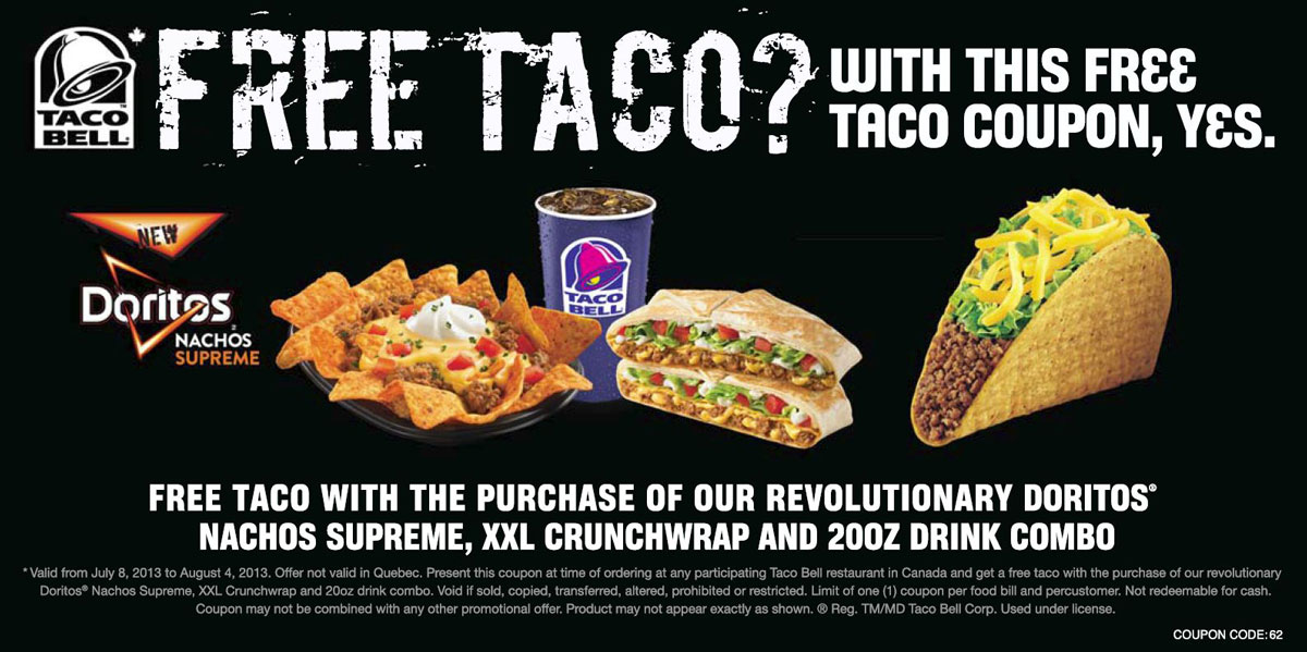How to get free taco bell