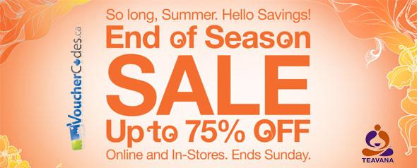 Teavana End of Season Sale