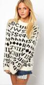 Fluffy Alphabet Sweater