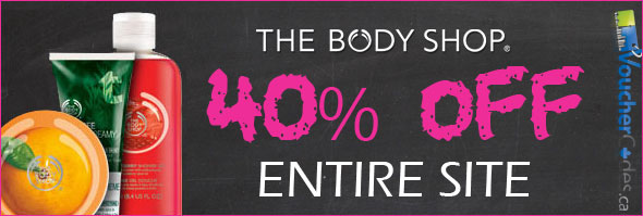 The Body Shop Canada 40% Off
