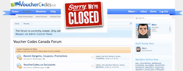 Forum Temporarily Closed