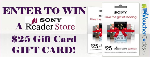 Sony Reader Store Gift Card Give Away