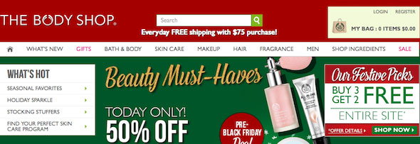 The Body Shop Black Friday & Cyber Monday