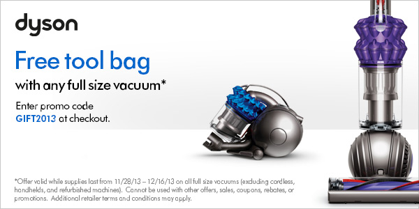 dyson Free tool bag banner