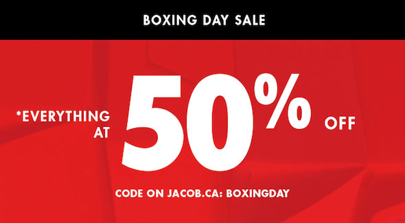 Jacob Boxing week Sale