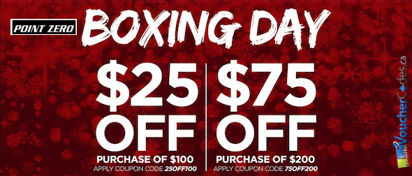 Boxing Week Coupons from Point Zero