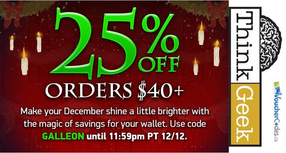 ThinkGeek December Deals