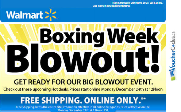 Walmart Boxing Week Sale
