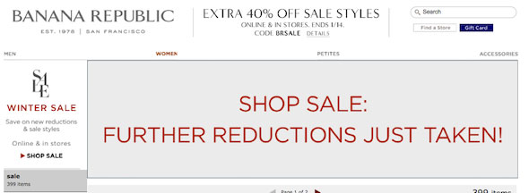 Banana Republic Save 50%