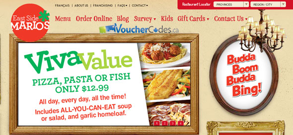 East Side Marios Coupon